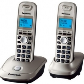 Р/Телефон Dect Panasonic KX-TG2512RUN (платиновый, 2 трубки)