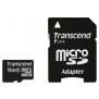 Флеш карта microSDHC 16Gb class10 + adapter Transcend (TS16GUSDHC10)